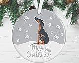 Dobermann Weihnachtsschmuck – Dobermann Baumschmuck für Hund Mom Kugel
