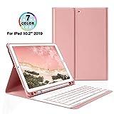 Tastaturhlle Fr Ipad 10.2 2019 Drahtlose Bluetooth-Tastaturhlle Der 7. Generation,Abnehmbare...