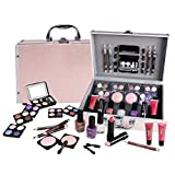 Schminkkoffer Set Profi Qualitt 42-teilig im Alukoffer Beauty Case pink rosa TOP