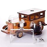 Whiskeygläser Klassische Autos, Glas Whisky Karaffe-set Dekanter Ausflasche Mit 2 Tassen Und 9...