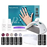 NEONAIL Smart Set Premium Geschenkbox Nagelstudio 5x Colour 3ml uv Nagellack LED Lampe 21W/48W Eco...