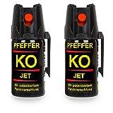 Buyemo Pfefferspray KO Jet 40ml oder 50ml   Abwehrspray Verteidigungsspray   Familiensets 2er/ 3er...