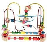 Fenteer Hölzerne Perlen Labyrinth Motorikschleife Montessori Holzspielzeug, Größe: 26 x 15 x 19...