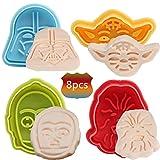 BESLIME Fondant Ausstecher 8pcs Star Wars Ausstechformen Plätzchenformen, Backformen Keks Cookie...
