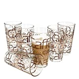 6er Set Latte Macchiato Glas 39cl stapelbar Coffee Dekor