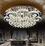 Euroton LED Pendelleuchte Kristall 6019-80cm mit Fernbedienung Lichtfarbe Kaltweiß warmweiß...