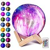 Laelr Moon Lampe, 16 Farben 3D gedruckt Vollmondlicht USB Wiederaufladbare LED Nachtlicht Moderne...