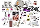 Nagelstudio Set komplett für die künstliche Nagelmodellage | Manikure + Pediküre | Nagelstudio...