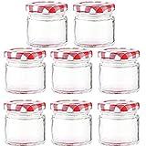 Foree 8 Stück Marmeladengläser, Honigglas, Transparentes Marmeladenglas, Geeignet für Bonbons,...