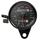 Moligh doll Motorrad Dual-Kilometerzaehler Tachometer Messgeraet LED-Hintergrundbeleuchtung kmh 12V...
