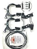 eRadius Felgenbremse, komplettes Set, mit Kabeln und Hebeln, Legierung, geeignet für BMX und...