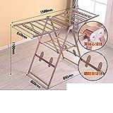 Aluminiumlegierung Trockengestell Boden Klapp Balkon wing Stationär Babywindel Kleidung rack-L