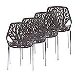 Makika Retro Stuhl Design Stuhl Esszimmersthle Brostuhl Wohnzimmersthle Lounge Kchenstuhl Sitzgruppe...
