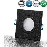 lambado Premium LED Spots Dimmbar für Badezimmer in Schwarz - Moderne Deckenstrahler/Einbaustrahler...