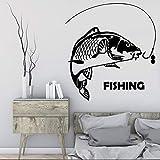 yaonuli Fischer wasserdichte wandmalerei Wohnzimmer Dekoration mit Fisch Zitat große Fische...