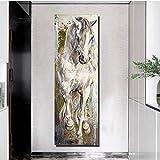 KWzEQ Pferd Malerei Moderne Wandbild Wohnzimmer Tier Poster Druck Retro dekorative...