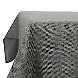 Deconovo Tischdecke Wasserabweisend Tischdecke Lotuseffekt Tischtuch Leinenoptik 130x160 cm Grau