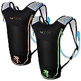 Neboic Trinkrucksack mit 3L Trinkblase Trinksystem Hydration Backpack Wasser Rucksack Wasser Blase...