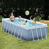 ZZXUAN Metallrahmen-Pool Oberirdischer Gartenpool Im Außenbereich Mit Filterpumpe, Typpatrone und...