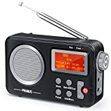 PRUNUS J-409 DAB Radio, Tragbares UKW Digitales Radio, Bluetooth Lautsprecher Radio mit...