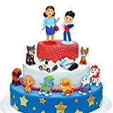 Sinwind Paw Dog Patrol Tortenfiguren, 12er Paw Dog Patrol MiniFiguren Tortendeko, Cake Topper,...