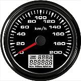 ELING Universal GPS Tachometer Geschwindigkeitsmesser 0-200 KM/H Kilometerzähler Für Autorennen...
