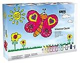 Kreul 42752 - Window Color Fenstermalfarben Set, mit 8 Farben in 80 ml Malflaschen, schwarze...