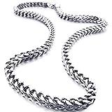 MunkiMix 6MM Breit Rostfreier Stahl Wasserdicht Kette Halskette zum Männer Frauen Jungs Mädchen...