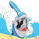 LEMEGO Tauchmaske für Kinder Hai-Förmige Vollgesichtsmaske sicher Easybreath Anti-Fog...