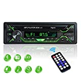 Aigoss Autoradio mit Bluetooth Freisprecheinrichtung, 1 Din Universal 60w x 4 Radio, FM/BT/USB/TF/SD...