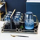 GFF Wassergläser Trinkglas Desktop-Kaffeetisch Kaffeetasse Kalter Kessel Set Hitzebeständiges...