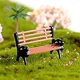 pushfocourag Creative Mini Park Bank Modell Miniatur Landschaft Garten Deko Ornament für Garten,...