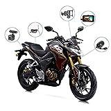 GJQDDP Motorrad-Recorder, Doppelobjektiv-Front- und -Doppelaufzeichnung HD-wasserdichtes 3.0...