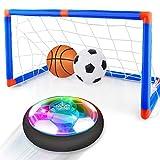 Baztoy Air Power Fussball Fußballtor Set, Kinder Spielzeug Wiederaufladbar Fußball Hover Football...