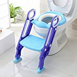 Bamny toilettensitz kinder toilettentrainer mit treppe kinder kloaufsatz Töpfchen Sitz klappbar...