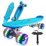Saramond Skateboards Komplette 55cm Mini Cruiser Retro Skateboard für Kinder Teens Erwachsene...