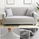 WXQY Einfache Sofaschutzhülle L-förmige Ecke rutschfeste Sofabezug voll elastische Sofabezug...