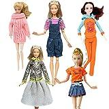 walenbily Kleider Mode Outfit Kleidung Puppensachen Outfit 5 Set für 11,5 Zoll Puppen