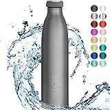 720DGREE Edelstahl Trinkflasche milkyBottle - 1L - BPA-Frei, Auslaufsicher, Kohlensure geeignet -...