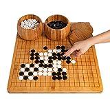 ADLOASHLOU Go-Spiel,go Set,Go Brettspiel,Go Game Set Weiqi Lernspiele,Go Schach Brettspiel Set...
