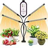 WOLEZEK Pflanzenlampe LED,Pflanzenlicht,80 LEDs Pflanzenleuchte 3000K 5000K 660nm Wachsen licht...