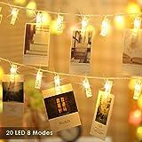 Foto Clips Lichterkette batterie 20 LEDs B-right LED Lichterkette warmweiß, Lichterkette...