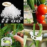 LIBRNTY 100 Pflanzenclips Pflanzenklammern für Tomaten,Gurken und andere Rankpflanzen – Besonders...