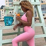 YJTZGG-H Sportbekleidung Frauen Sport Anzug Fitness Gym Kleidung 2 Stück Set Trainingsanzug Sexy...