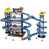 Matuke Spiel Parkhaus, Autogarage mit 4 Ebenen und 5 Fahrzeugen Parkgarage Kinder Parkhaus Spielzeug...
