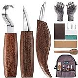 Holz-Schnitzwerkzeug Set, 10 Teiliges Holz Schnitzmesser mit Schleifsteine, Professional...