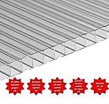 Polycarbonat universal Stegplatten klar in 4 mm Größen 200 x 105 cm 10 Jahre garantie
