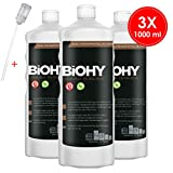 BIOHY Universal Flüssig-Entkalker 3 x 1 Liter Flaschen + Dosierer | Konzentrat für ca. 20...