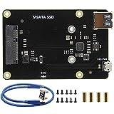 CLJ-LJ Raspberry Pi 3 Modell B + (Plus) / 3B mSATA SSD-Speichererweiterungskarte X850 V3.0 USB 3.0...