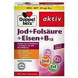 Doppelherz Jod + Folsäure + Eisen + B12 – Mit Folsäure als Beitrag für die normale Blutbildung...